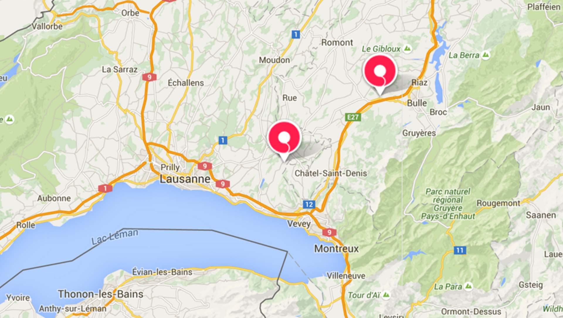 Stockage Vaud et Fribourg